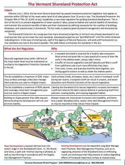 shorelands act summary
